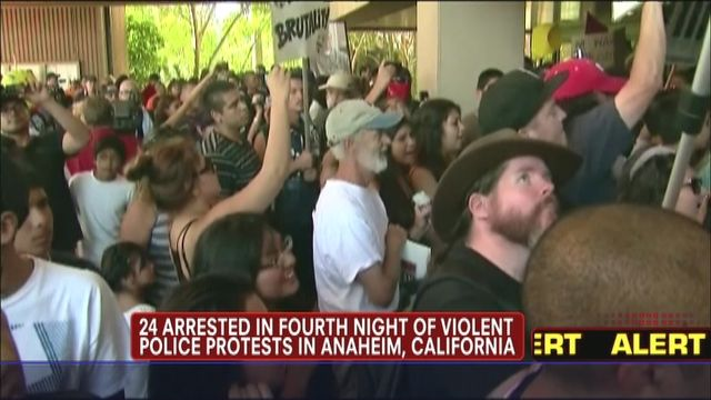 Anaheim Police Shooting Protest