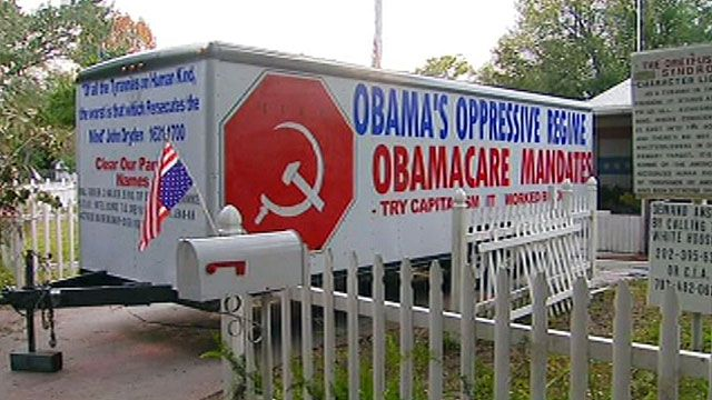 Anti-Obama sign causes controversy in Florida