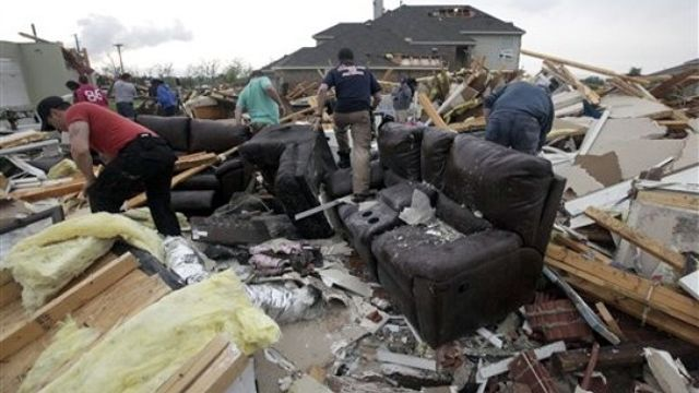Cleaning up after Texas tornadoes