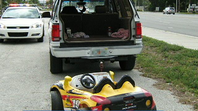 6-Year-Old Towed in Toy Car By SUV