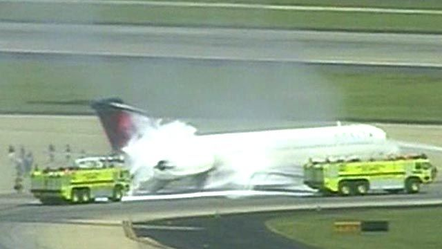 Delta Plane Catches Fire at Atlanta Airport