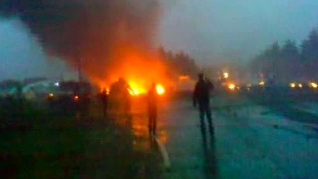 Fiery Scene after Russian Airliner Crashes
