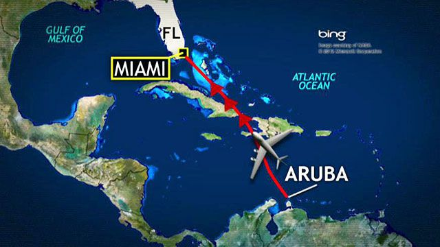 Turbulence rocks flight from Aruba to Miami