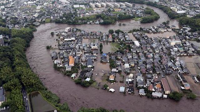 Torrential downpours lead to deadly floods in Japan
