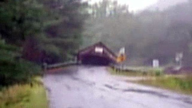 Covered Bridge Carried Away in Vermont