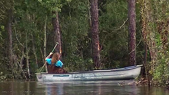 Isaac creates unusual commute to work in Mississippi