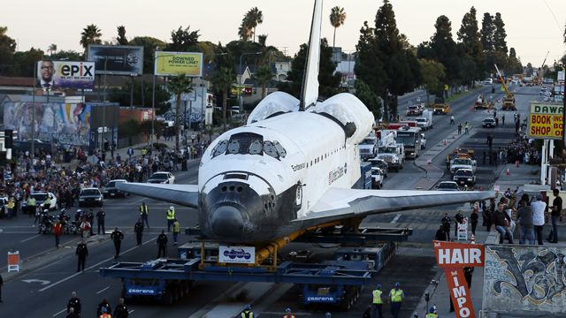 Mission accomplished: Endeavour finally arrives at new home