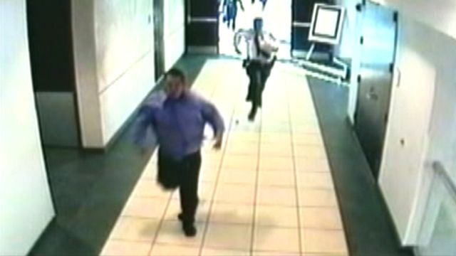 Courtroom escape caught on tape