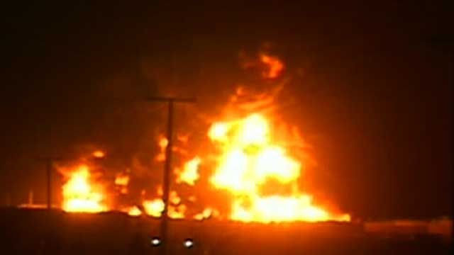 More Than 20 Tankers for U.S. Troops Torched